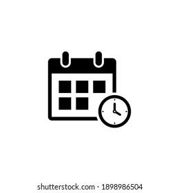Calendar icon vector. Deadline, season icon symbol flat design