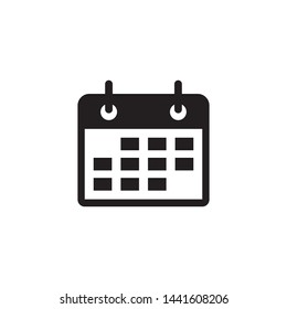 calendar mobile icon vector symbol logo design inspiration