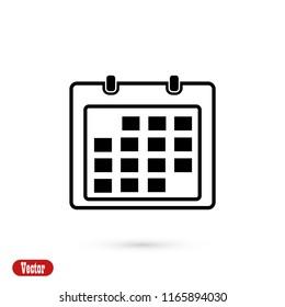 Calendar icon, Vector EPS 10 illustration style