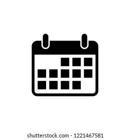 calendar icon vector eps10 editable