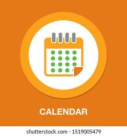calendar icon, vector calendar icon, event symbol
