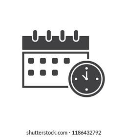 Calendar icon, vector, flat design