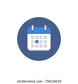 Calendar Icon Vector Flat Illustration