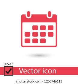 Calendar icon vector illustration. Linear symbol with thin outline. The thickness is edited. Minimalist style.