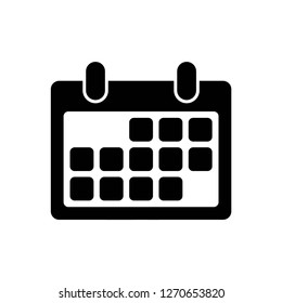 calendar icon vector, on white background editable eps10