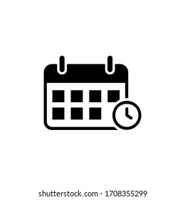Calendar icon vector. Schedule icon isolated