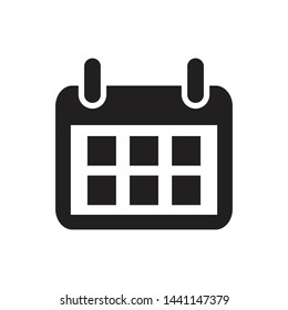 calendar icon vector simple design