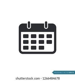 Calendar Icon Vector Template
