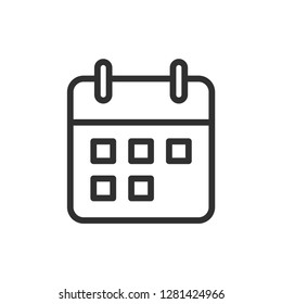 calendar icon vector template
