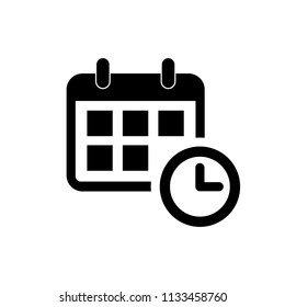 Calendar icon. calendar vector icon. Calendar Icon in trendy flat style isolated on white background.