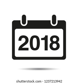 Calendar Icons with the date 2018 Vector. Happy New Year