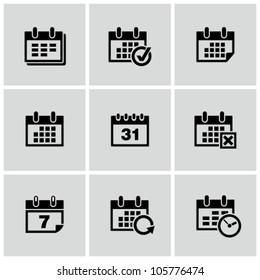 Calendar icons set.