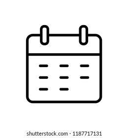 Calendar Isolated Flat Web Mobile Icon