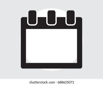 Calendar Isolated Flat Web Mobile Icon