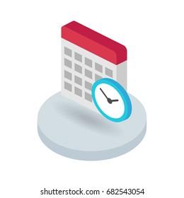 Calendar isometric vector icon