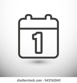 Calendar, linear icon. One of a set of linear web icons