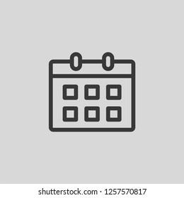 Calendar Modern Simple UI Vector Icon
