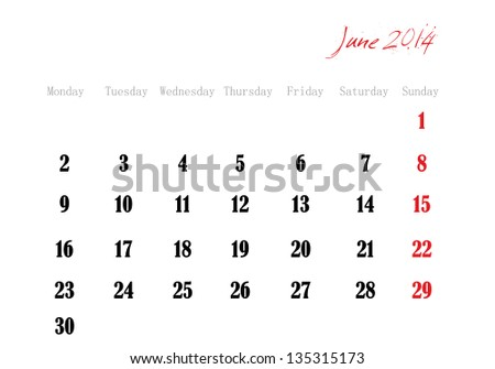 Month Of June 2014