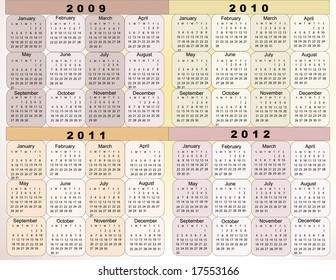 2009 Calendar Images, Stock Photos & Vectors | Shutterstock