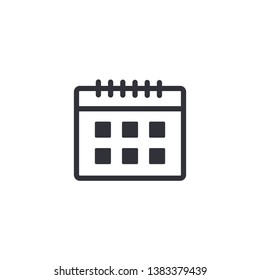 Calendar page outline vector icon