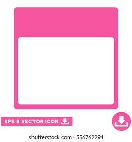 Calendar Page Template Icon Vector EPS Illustration Style Is Flat Iconic Symbol Pink Color