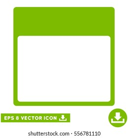Calendar Page Template icon. Vector EPS illustration style is flat iconic symbol, eco green color.