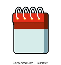 calendar planner day time agend icon.  Isolated and flat illustration. Vector graphic