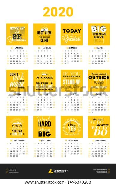 calendar poster template year week business finance signs