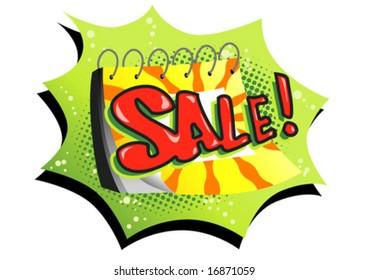 "Calendar showing ""Sale!"""