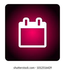 calendar sign icon