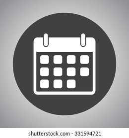 Calendar sign icon, vector illustration. Flat design style