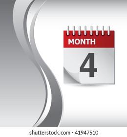 calendar silver wave background