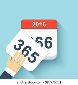 Calendar style flat leap year 366 days