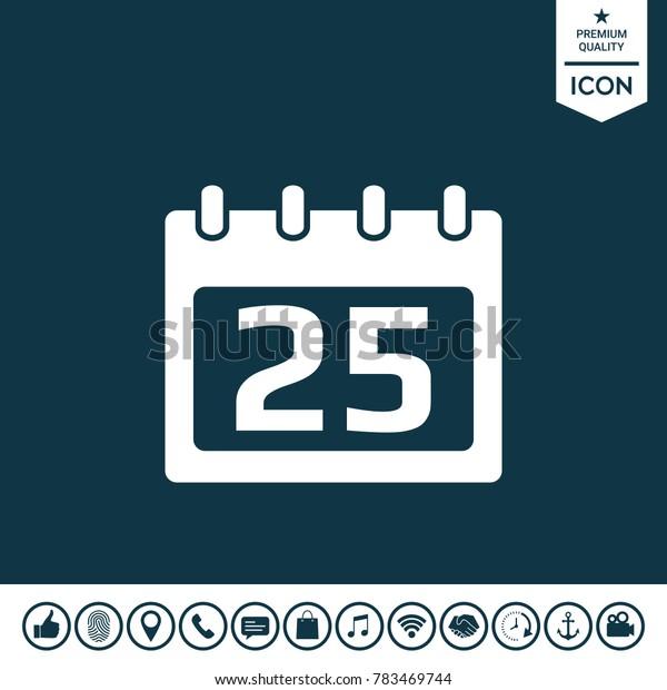 Calendar symbol icon
