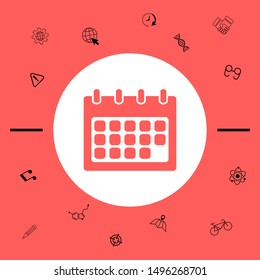 Calendar symbol icon. Graphic elements for your design