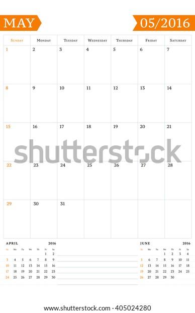 2016 Weekly Calendar Template from image.shutterstock.com