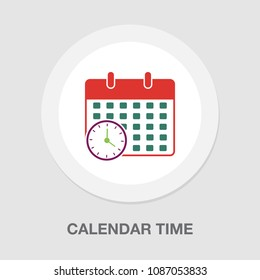 calendar time icon - vector deadline illustration, event reminder symbol