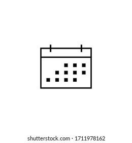 calendar time schedule icon vector illustration logo template