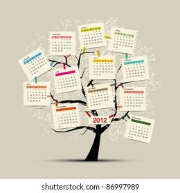 Calendar tree 2012 for your design