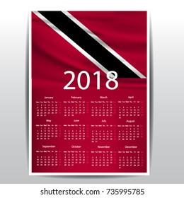 calendar of trinidad flag