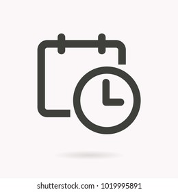 Calendar vector icon. Black illustration isolated for graphic and web design.