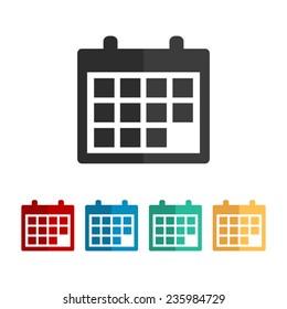 Calendar   - vector icon, flat design