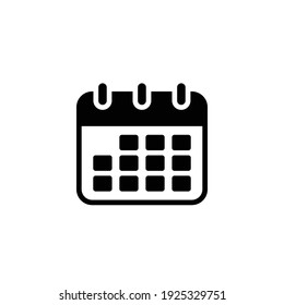Calendar vector icon. Simple sign solid style. Schedule, date, day, plan, symbol concept. Vector illustration isolated on white background. EPS 10.