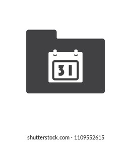Calendar vector icon for web design in a flat style