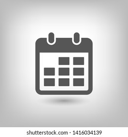 Calendar vector icon. Web design icon. Calendar on the wall. Flat calendar icon. Vector icon EPS 10