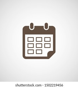 Calendar vector icon. Web design icon. Calendar on the wall. Flat calendar icon. Vector icon EPS 10