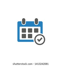 Calendar vector icon for web and mobile