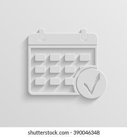 calendar vector paper icon