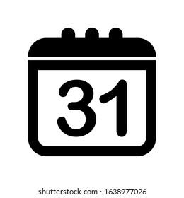 Calendar Vector Simple icon. Editable vector 2000 x 2000 Pixel