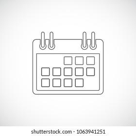calendar web outline icon
